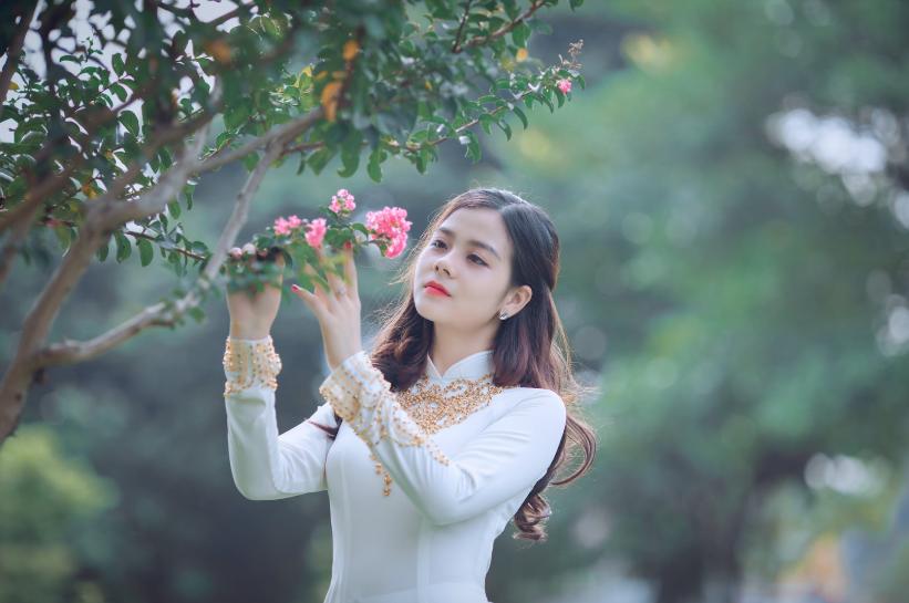 tender Vietnamese woman