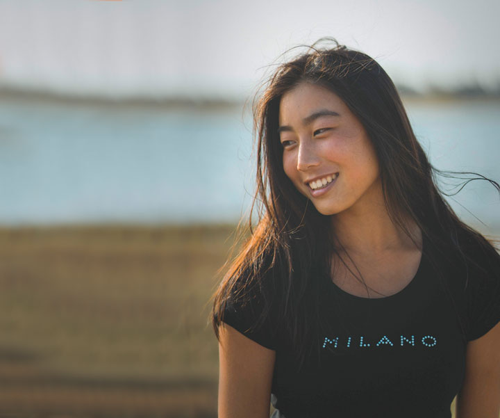 smiling Kazakhstani girl