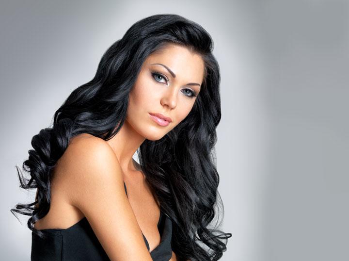 Azerbaijani woman with beauty long brown hair