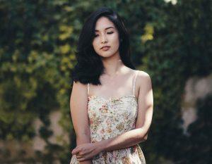 asian Laotian girl in dress